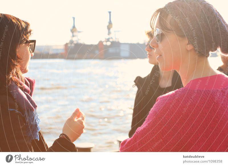 take time to enjoy Mensch Ferien & Urlaub & Reisen Sommer Sonne Erholung feminin Freundschaft Zufriedenheit Tourismus authentisch genießen Klima Kommunizieren