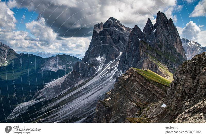 Zahn der Zeit Ferien & Urlaub & Reisen Tourismus Ausflug Abenteuer Ferne Freiheit Sommerurlaub Berge u. Gebirge Natur Landschaft Himmel Wolken Sonnenlicht