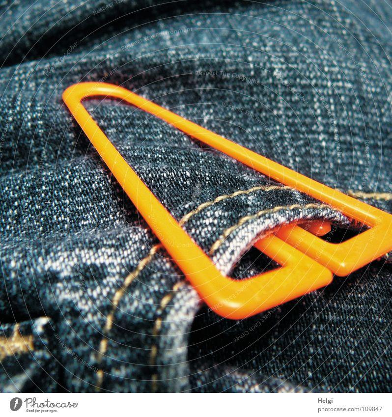 statt Knoten im Taschentuch... blau weiß orange groß Bekleidung Ecke Stoff rund Kunststoff Falte Hose Jeansstoff Statue Am Rand Erinnerung Klammer