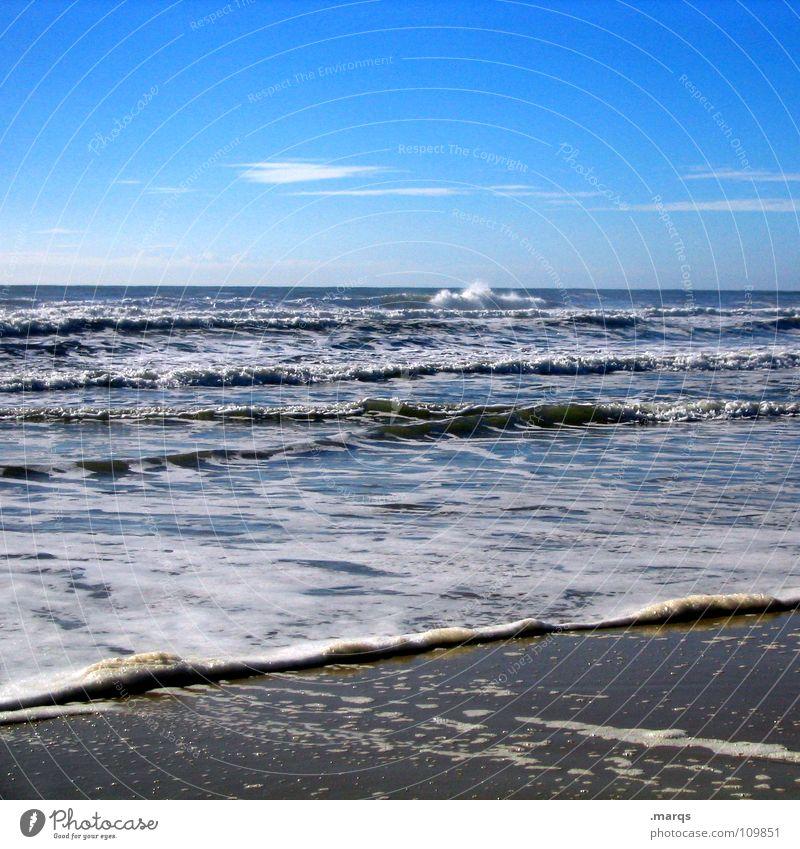 Das weiße Rauschen Wasser Meer Sommer Strand Ferne kalt Erholung Sand Küste Wellen nass Horizont tauchen Australien Brandung Schaum