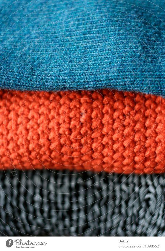 Strick Bekleidung Pullover Wärme weich blau orange kaufen Mode Wollpullover Wolle Schlaufe Strickpullover Strickmuster Stapel Auswahl Textilien 3 Farbfoto