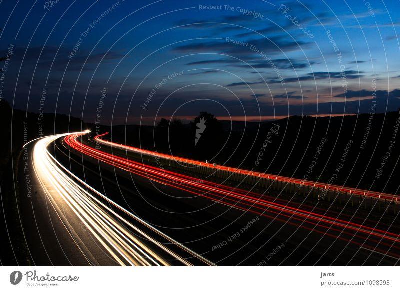 heimweg Himmel Wolken Sonnenaufgang Sonnenuntergang Schönes Wetter Verkehr Verkehrsmittel Verkehrswege Personenverkehr Berufsverkehr Güterverkehr & Logistik