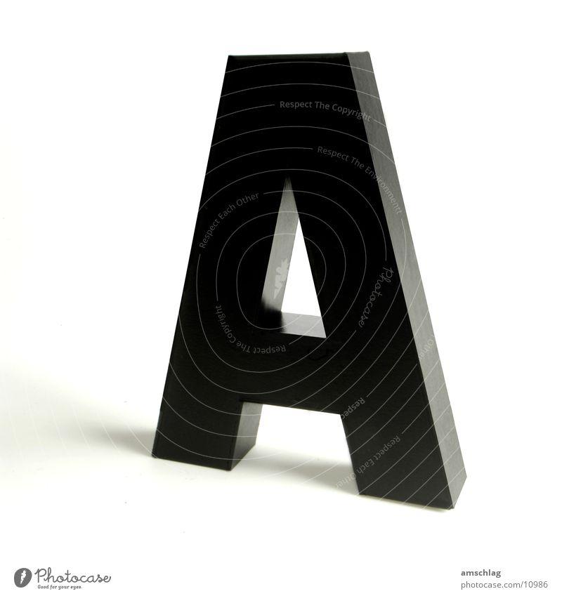 Aaaaahhhhhhh schwarz glänzend Buchstaben Dinge Karton Lack Basteln Großbuchstabe