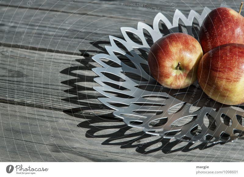 Äpfel rot Gesunde Ernährung grau Essen Gesundheit Lebensmittel Frucht Tisch süß Ernte Stengel Apfel Bioprodukte Frühstück Schalen & Schüsseln