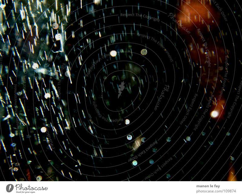 Traumregen blau weiß rot schwarz Luft Regen Kunst orange Glas Haut Wassertropfen Spiegel Gemälde Sturm Leidenschaft obskur