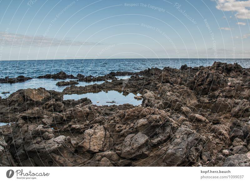 Wimmelbild Natur Meer ruhig Gefühle natürlich Küste Zeit Stein Stimmung Zufriedenheit Kraft Idylle Pause Hoffnung Trauer Glaube