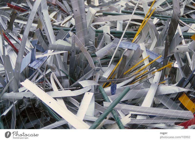 Alurollos im Endstadium Industrie Müll Aluminium Schrott