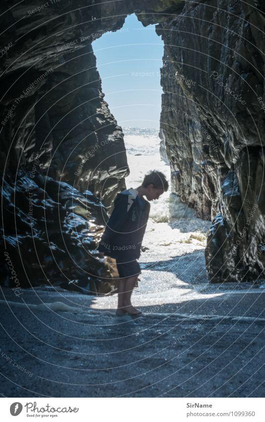 356 Ferien & Urlaub & Reisen Ausflug Abenteuer Freiheit Sommer Sommerurlaub Sonne Meer Wellen Junge Kindheit Leben 1 Mensch 3-8 Jahre Natur Landschaft