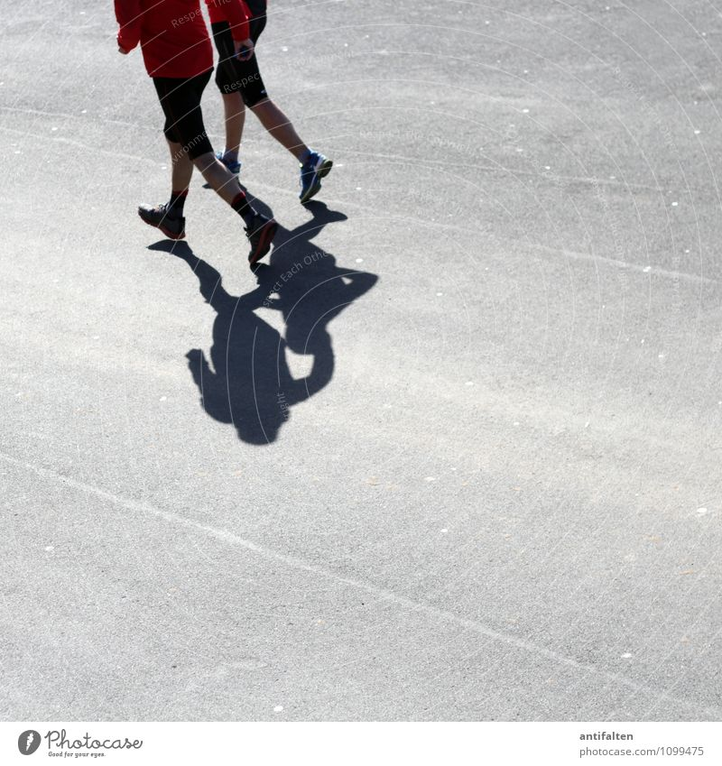 Sonnenlauf Freizeit & Hobby Joggen Sport Fitness Sport-Training Sportler Mensch maskulin feminin Frau Erwachsene Mann Paar Körper Rücken Arme Hand Gesäß Beine