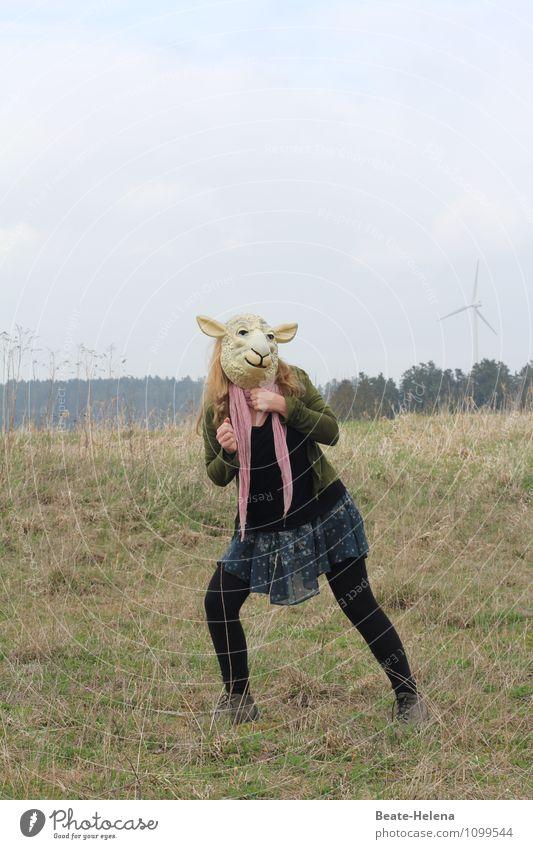so locken wir den Frühling an ... Natur Pflanze Erholung Freude Tier feminin Gras Glück Feste & Feiern außergewöhnlich Party träumen Feld Fröhlichkeit Tanzen