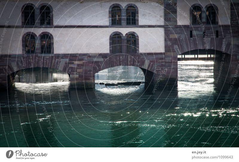 Wasserdurchlässig Stadt Fenster Umwelt Gebäude glänzend Brücke Romantik Fluss Bauwerk türkis Backstein Tor Frankreich Bogen fließen