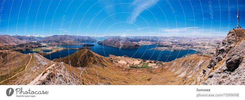 roys peak Schönes Wetter Berge u. Gebirge Mount Aspiring Seeufer Lake Wanaka blau braun Farbfoto Tag Panorama (Aussicht)