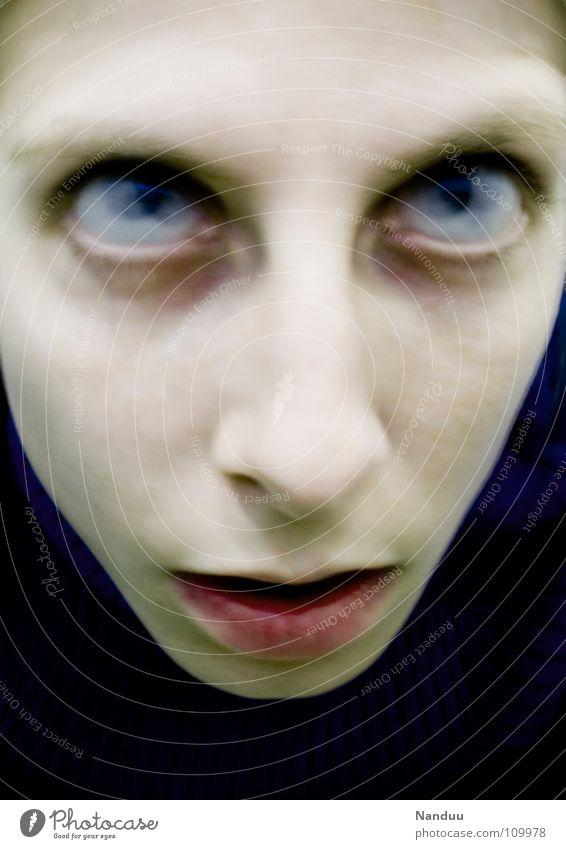 Zombie Auge Tod Angst kaputt Ende Vergänglichkeit gruselig Ekel Geister u. Gespenster Panik hässlich fertig Halloween Zombie untot