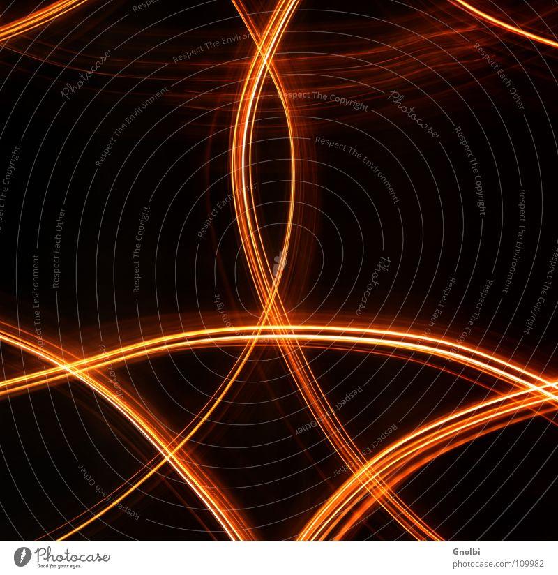 Lichtleitung Linie Streifen gold Symbole & Metaphern Belichtung Spuren Reaktionen u. Effekte Farbfoto Experiment Lichterscheinung Langzeitbelichtung