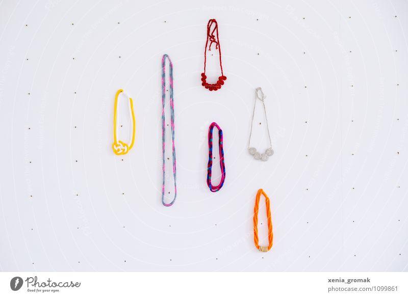 Strickketten Lifestyle elegant Stil Design Freizeit & Hobby Mode Accessoire Schmuck ästhetisch einzigartig Zufriedenheit stricken Kette mehrfarbig Ladengeschäft