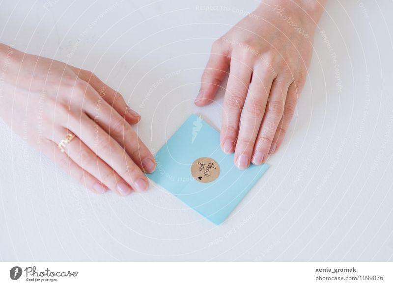 Thank you! blau schön Hand Stil Spielen Kunst Lifestyle Arbeit & Erwerbstätigkeit Freizeit & Hobby Design Dekoration & Verzierung Büro elegant Schriftzeichen