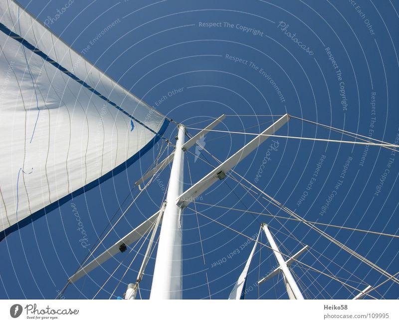 sail away Himmel Sommer Freude Ferien & Urlaub & Reisen Erholung Freiheit Wasserfahrzeug Wind Segeln Wassersport