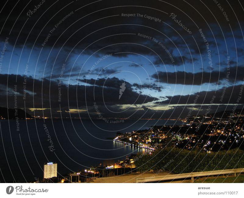Magic moment See Zauberei u. Magie Schweiz Genf Wolken Stadt Ferien & Urlaub & Reisen Himmel