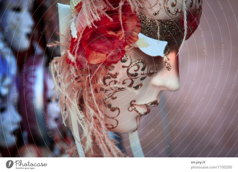 verspielt Ferien & Urlaub & Reisen Tourismus Karneval Veranstaltung Venedig Accessoire Maske fantastisch Fröhlichkeit schön Kitsch verrückt blau orange Freude