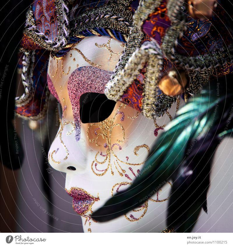 geheimnisvoll Ferien & Urlaub & Reisen schön Farbe Freude glänzend träumen Feder Fröhlichkeit Lebensfreude Kreativität Kultur Karneval Tradition Maske