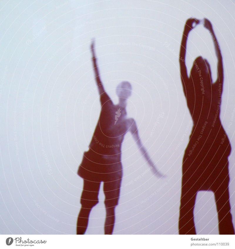 Schattenspiel 12 Frau Freude feminin Bewegung fliegen frei Perspektive stehen geheimnisvoll Verkehrswege Fotografieren Ausstellung Projektionsleinwand