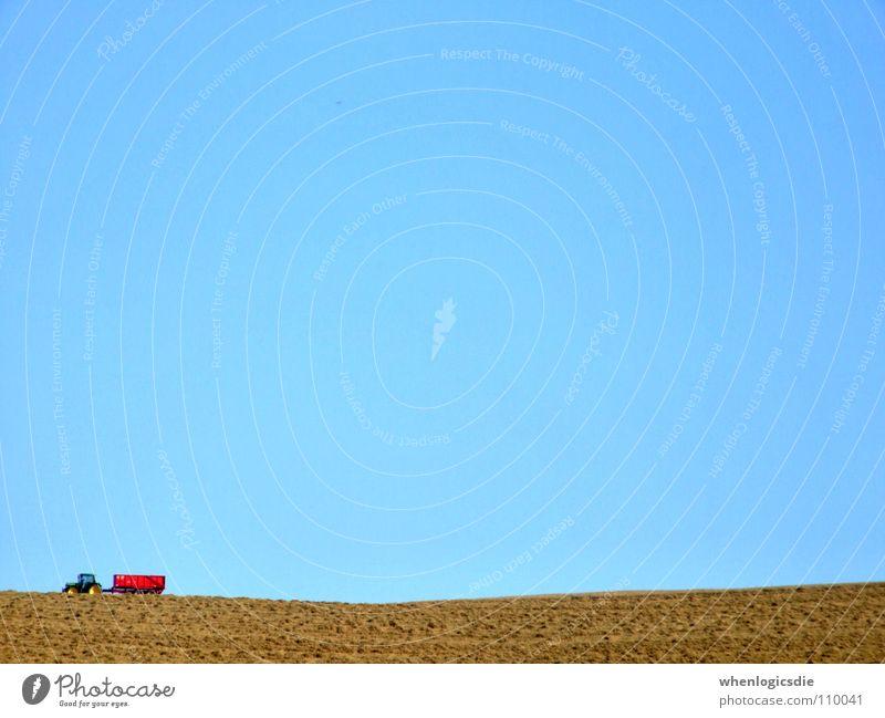 brumbrum rot Sommer Feld Ernte Traktor Gefolgsleute