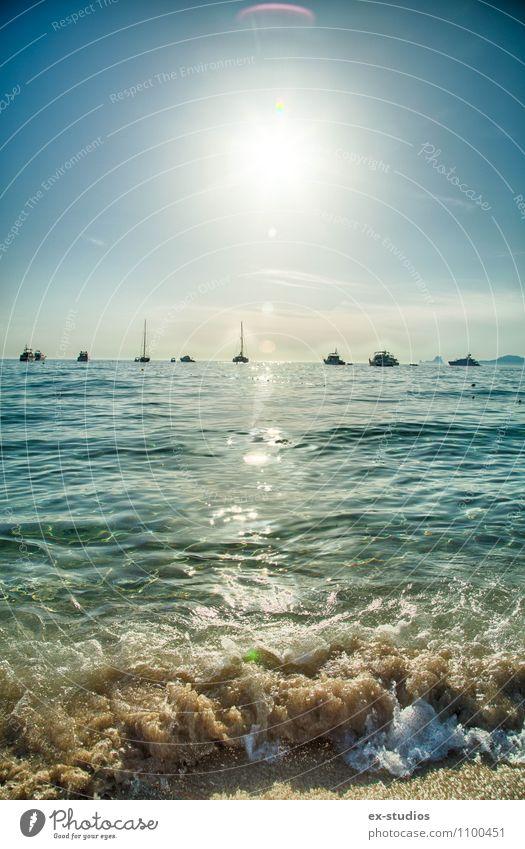 Beach Himmel Natur schön Wasser Sommer Sonne Meer Strand Ferne Umwelt Küste Schwimmen & Baden Sand Lifestyle Horizont Wetter