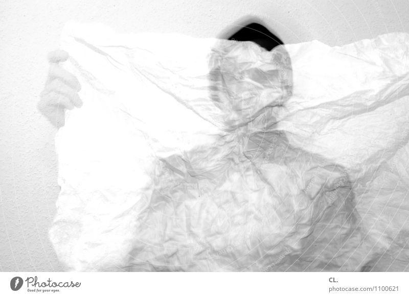 tokio Mensch maskulin Mann Erwachsene Leben Hand 1 Landkarte Papier Stoff außergewöhnlich Einsamkeit Stress Nervosität verstört bizarr chaotisch geheimnisvoll