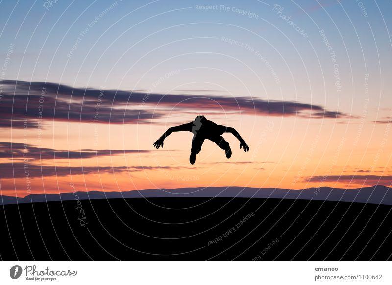 Bauchlandung Lifestyle Stil Freude Freizeit & Hobby Ferien & Urlaub & Reisen Abenteuer Ferne Freiheit Sport Fitness Sport-Training Sportler Mensch Kind