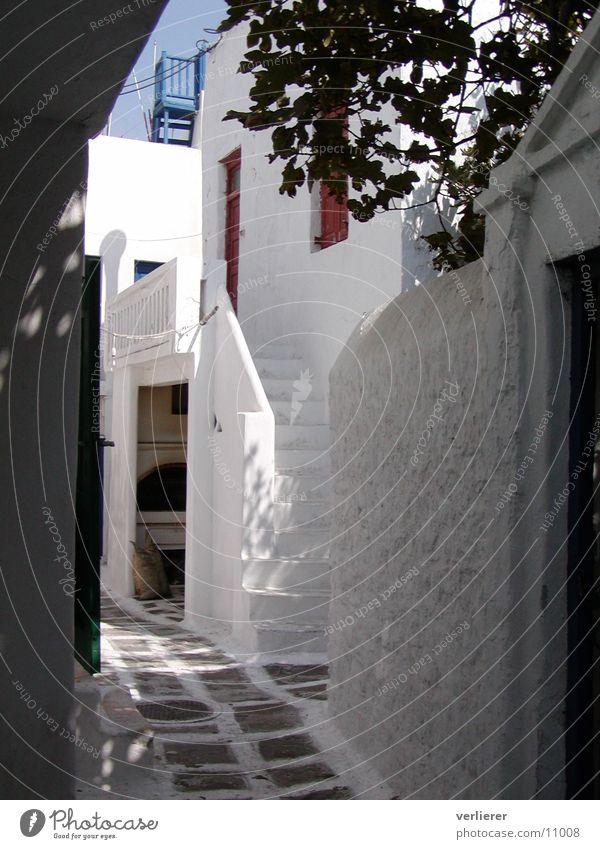 gasse auf mykonos Ferien & Urlaub & Reisen Europa Griechenland Gasse strahlend südländisch