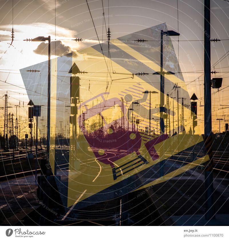 ups Stadt schwarz gelb Tod Schilder & Markierungen Energie gefährlich Hinweisschild bedrohlich Eisenbahn Güterverkehr & Logistik Schutz Sicherheit Wachsamkeit