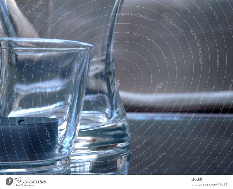Kerze 2 Vase Tisch Häusliches Leben Glas