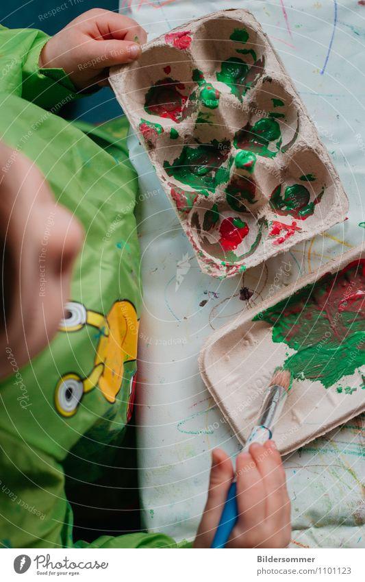 . Kindererziehung Bildung Wissenschaften Kindergarten Pädagogik Mensch Kleinkind 1 Pinsel Farbstoff Wasserfarbe klein oben gelb grün orange rot Kindheit