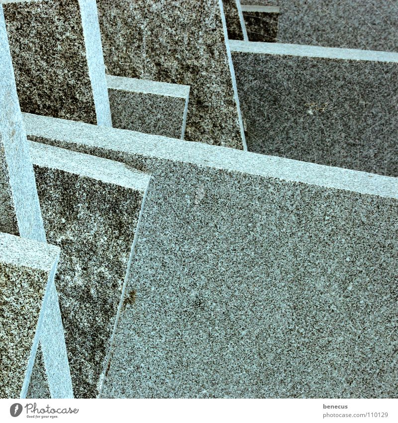 Erkenntnis grau Stein Linie Ordnung modern Ecke Niveau Klarheit Fliesen u. Kacheln türkis abwärts fein Plattenbau flach eckig Mineralien