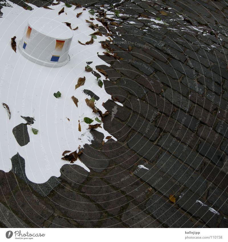 menschliches versagen III weiß Farbe Arbeit & Erwerbstätigkeit See Wassertropfen groß Baustelle Reinigen streichen Umzug (Wohnungswechsel) Handwerk Stress dumm Leiter Fleck Renovieren