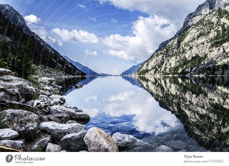 Himmel Natur schön Landschaft Wolken Umwelt Berge u. Gebirge Kunst Felsen Europa Fluss Spanien fließen