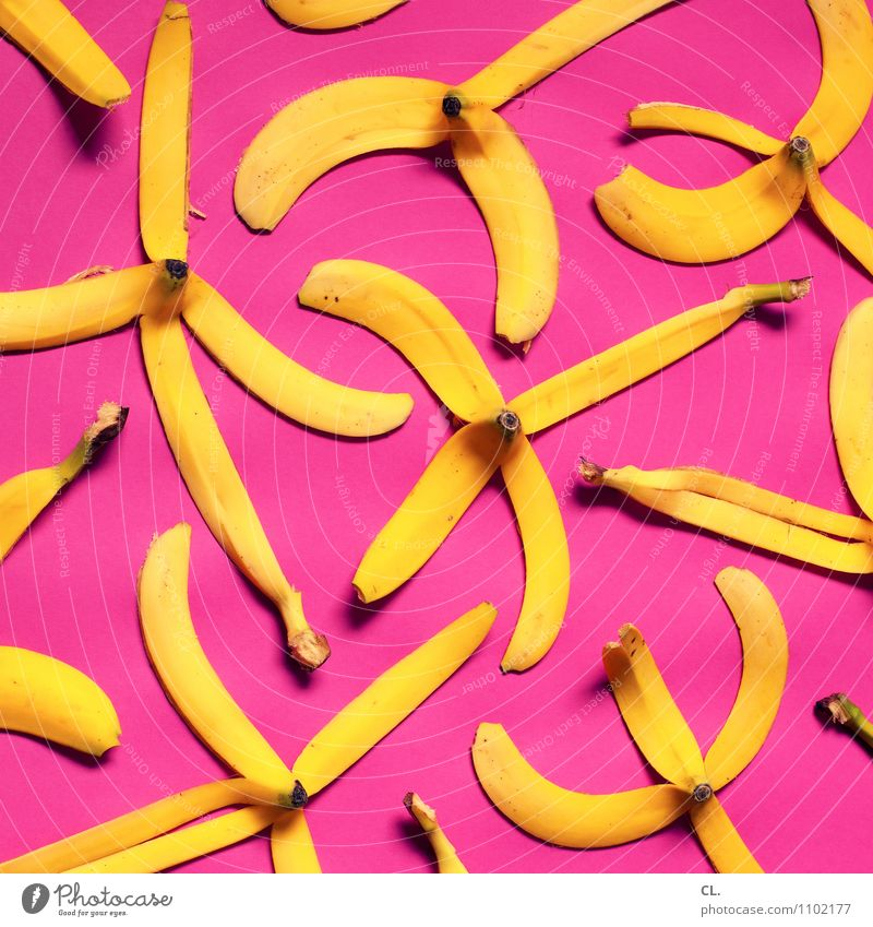 i go bananas Gesunde Ernährung gelb Essen Gesundheit außergewöhnlich Lebensmittel rosa Frucht Kreativität lecker Bioprodukte skurril Banane Super Stillleben
