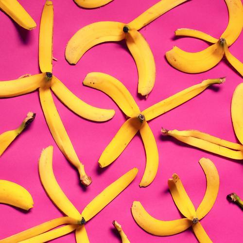 i go bananas Lebensmittel Frucht Banane Ernährung Essen Bioprodukte Gesunde Ernährung außergewöhnlich lecker gelb rosa Gesundheit Kreativität skurril