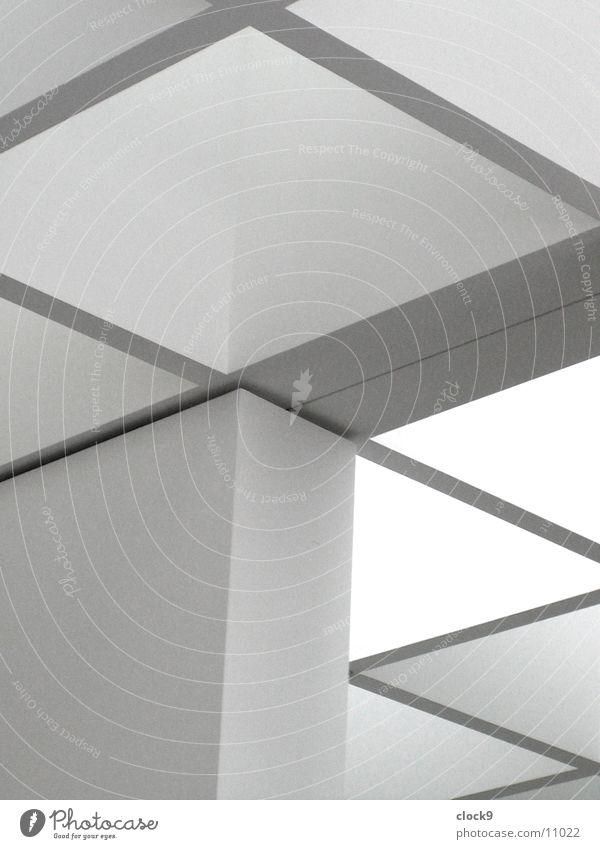 Blick zur Decke Licht weiß grau München Architektur Raum Pinakothek Lichtstrahl Innenaufnahme