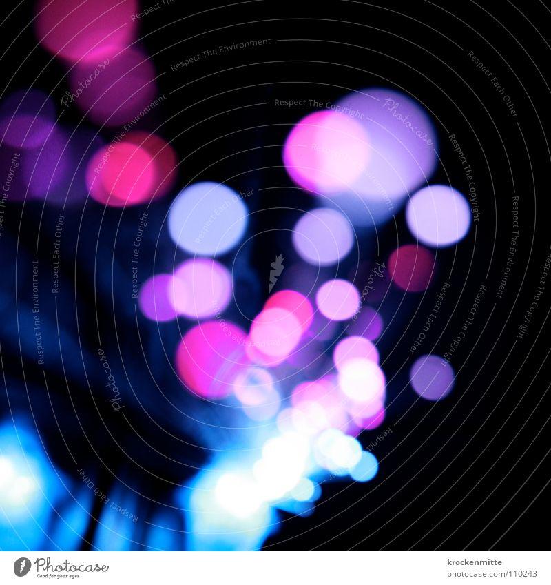 Traum in Pink Licht abstrakt Kreis Nacht rosa Ausgang Nachtleben Unschärfe Farbe Lampe Punkt night blau