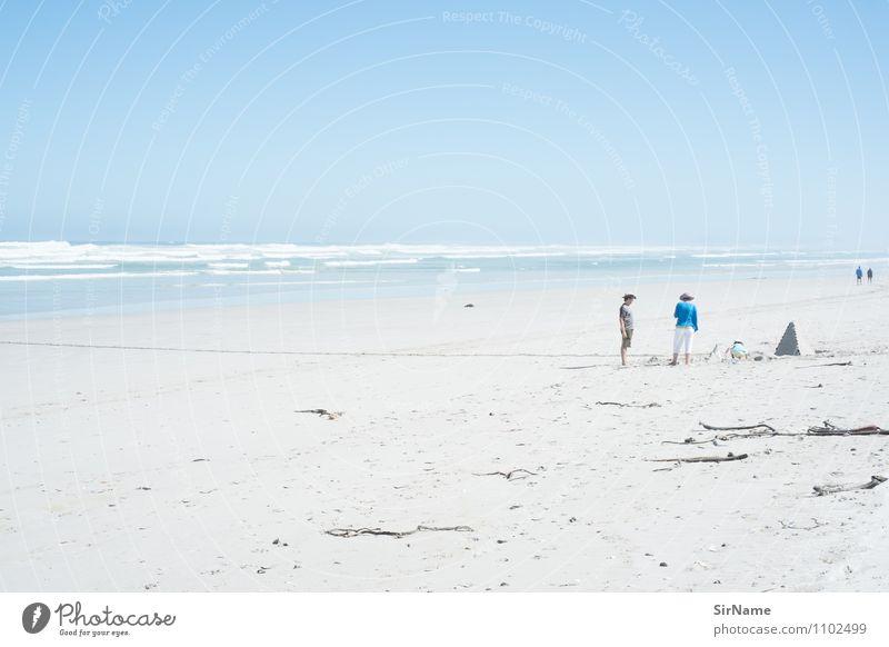 363 Mensch Natur Ferien & Urlaub & Reisen Jugendliche Sommer Sonne Junge Frau Erholung Meer Landschaft Junger Mann Strand Ferne Leben sprechen Freiheit