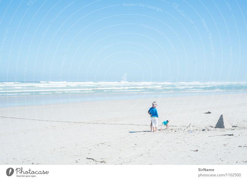 367 [Ziggurat] Kinderspiel Ferien & Urlaub & Reisen Tourismus Ausflug Ferne Freiheit Sommer Sommerurlaub Sonne Strand Meer Mädchen Eltern Erwachsene