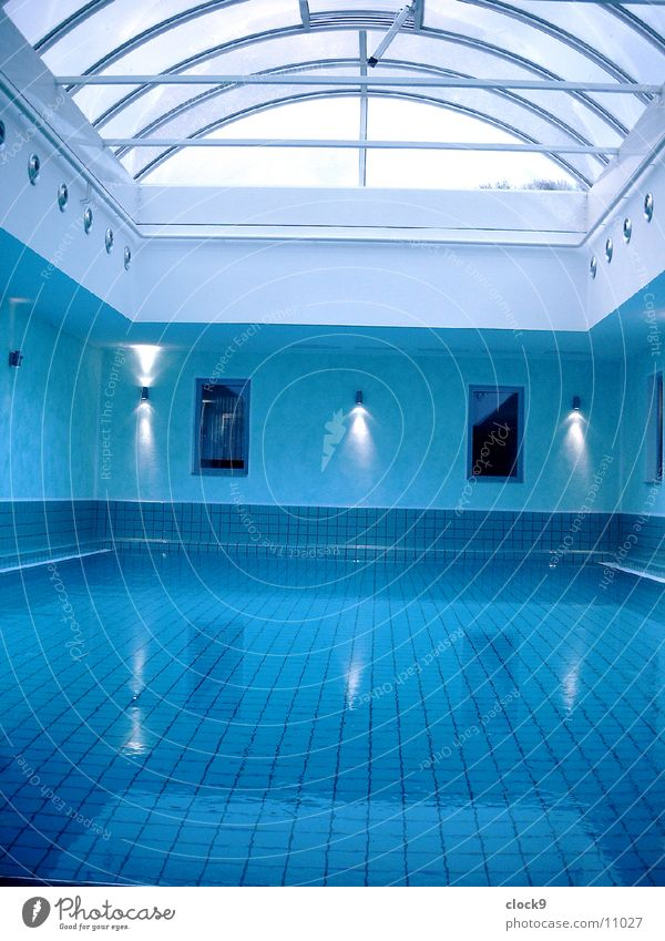 Aqua 1 blau Wasser Erholung Architektur Bewegung Schwimmbad Wellness