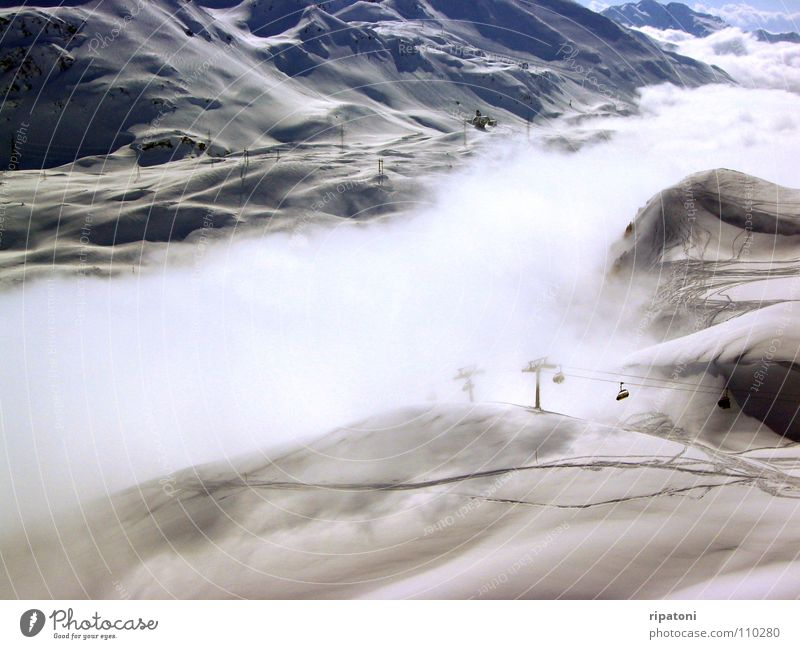 Nebeltal Ferien & Urlaub & Reisen Erholung Schnee Berge u. Gebirge Nebel Tal Skilift Skipiste