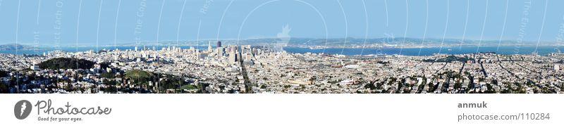 SanFrancisco 2003 Stadt Panorama (Aussicht) Macht USA BigCity Ferne Ocean America Panorama (Bildformat)