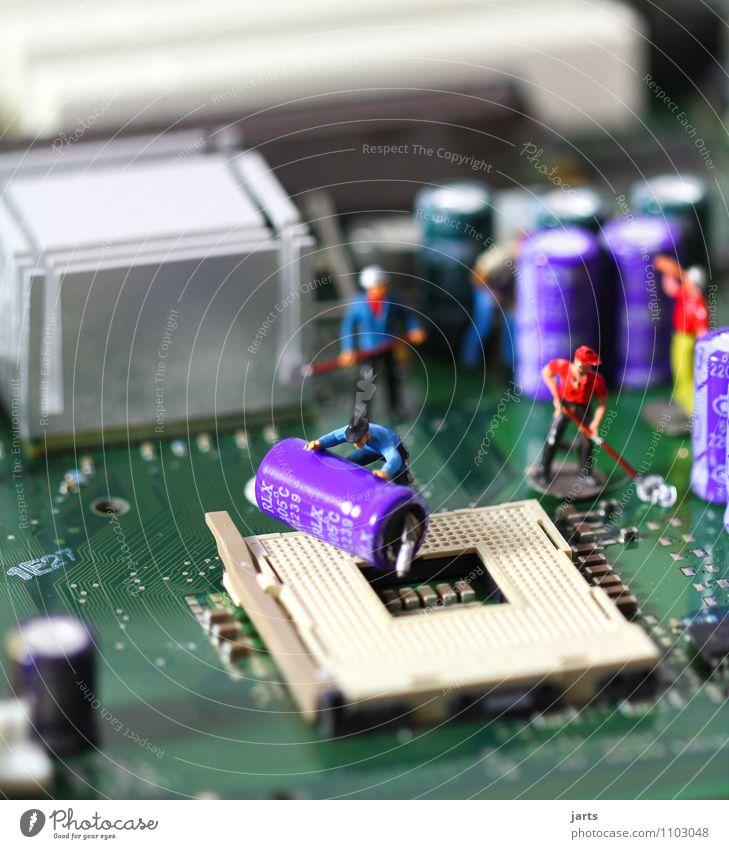 IT baustelle I Mensch Mann Erwachsene Arbeit & Erwerbstätigkeit maskulin Business Büro Technik & Technologie Computer Zukunft Telekommunikation Industrie
