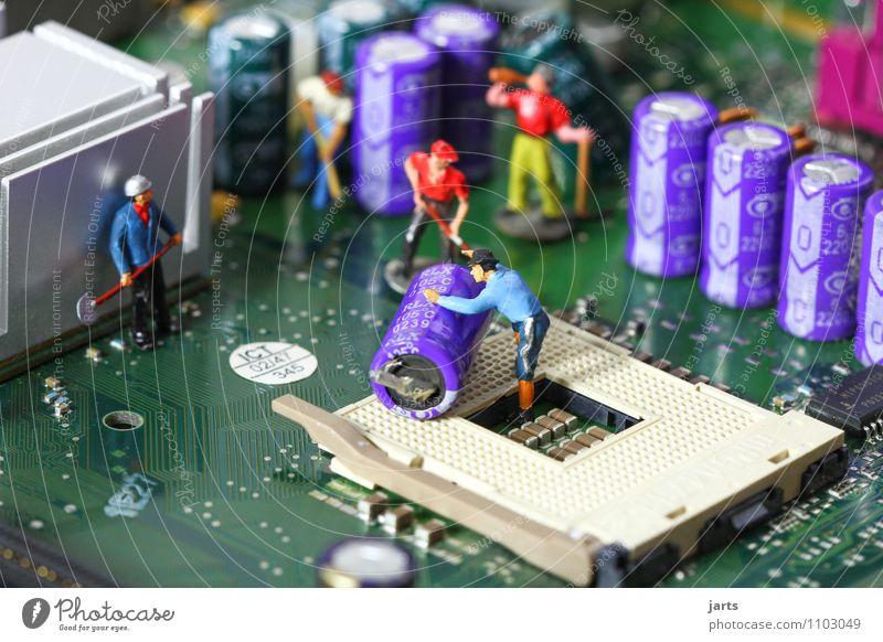IT baustelle VI Mensch Mann Erwachsene Menschengruppe Arbeit & Erwerbstätigkeit maskulin Büro Kraft Technik & Technologie Computer Zukunft Telekommunikation