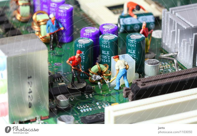 IT baustelle IV Mensch Mann Erwachsene Arbeit & Erwerbstätigkeit maskulin Business Büro Kraft Technik & Technologie Zukunft Telekommunikation Industrie