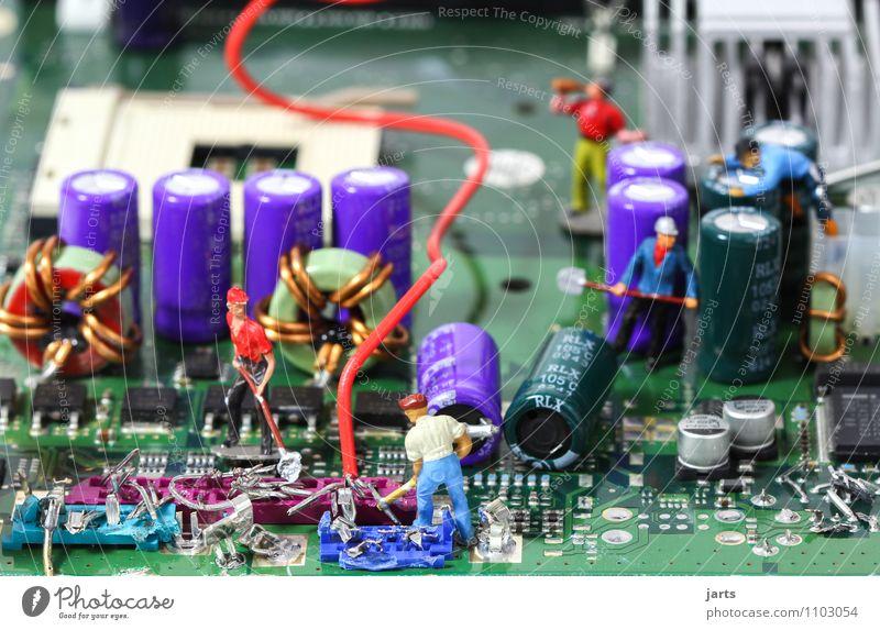 IT baustelle V Mensch Mann Erwachsene Menschengruppe Arbeit & Erwerbstätigkeit maskulin Business Büro Computer Telekommunikation Industrie Baustelle Team