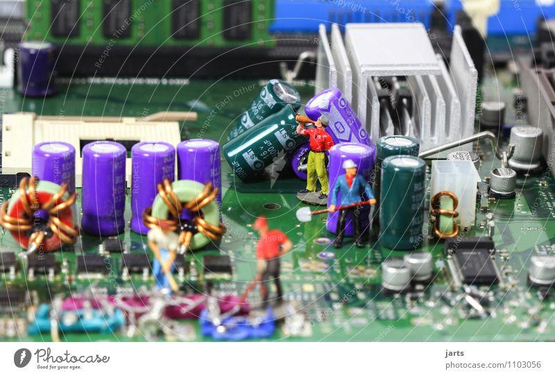 IT baustelle III Mensch Erwachsene Menschengruppe Arbeit & Erwerbstätigkeit maskulin Büro Technik & Technologie Zukunft Telekommunikation Pause Baustelle Team
